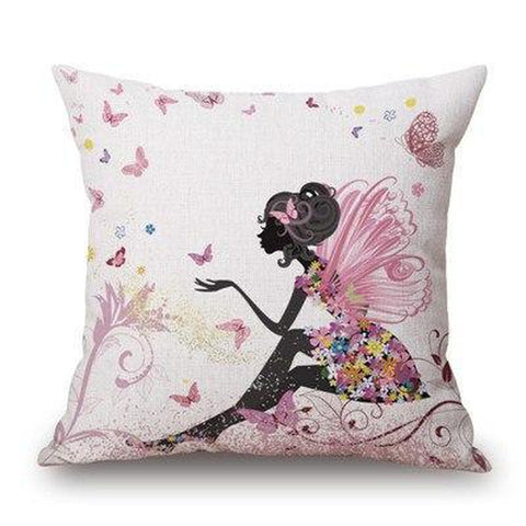 Flower Girl Fairy Love Heart Throw Pillow Covers-Tiptophomedecor