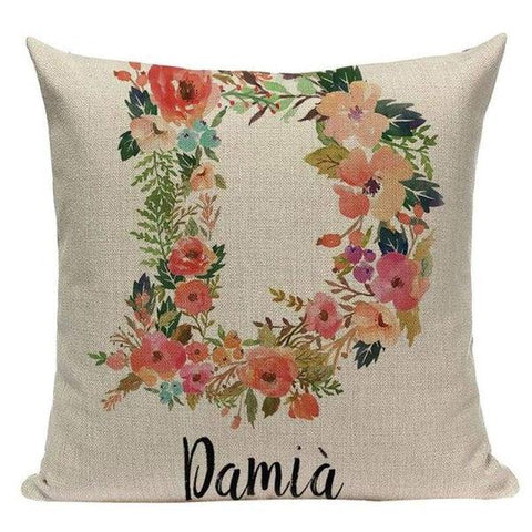 Flower Letter Cushion Covers-TipTopHomeDecor
