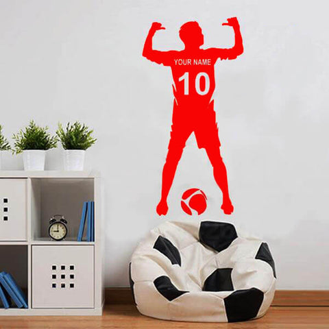 Football Name & Number Decal-TipTopHomeDecor