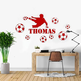 Football Player Custom Name Wall Decal-Tiptophomedecor-Interior-Design-Home-Decor