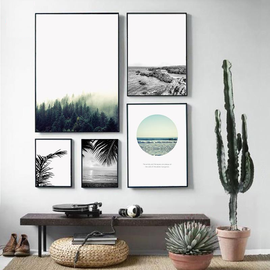 Forest Sea Landscape Art-TipTopHomeDecor