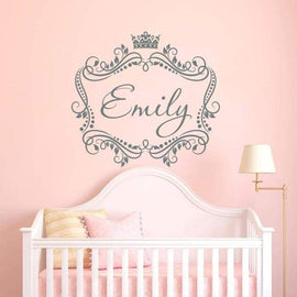 Tiptophomedecor Framed Girls Name Decal