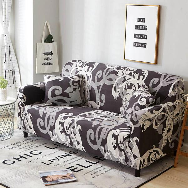 French Pattern Stretch Sofa Slip Cover-TipTopHomeDecor
