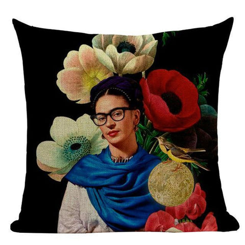 Frida Kahlo South American Art Cushion Covers-Tiptophomedecor
