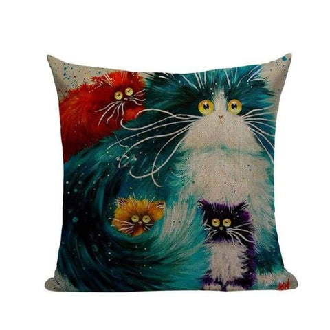 Tiptophomedecor Funky Cat Throw Pillow Covers