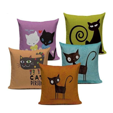 Tiptophomedecor Funny Cat Eyes Cushion Covers