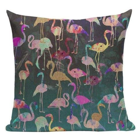Tiptophomedecor Funny Flamingo Throw Pillow Covers