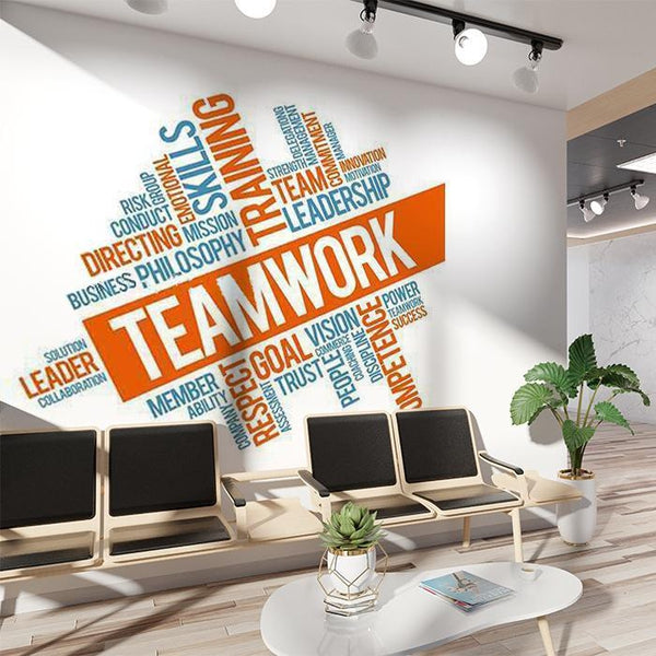 Inspirational Office Teamwork Words Wall Decal