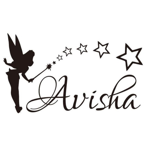 Tiptophomedecor Girls Name Fairy Decal