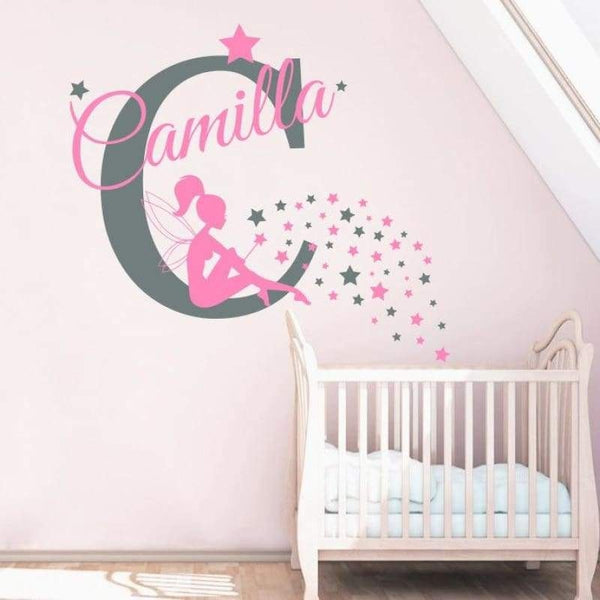 Tiptophomedecor Girls Name Fairy Moon Decal