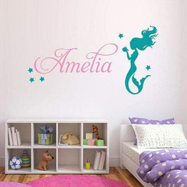 Tiptophomedecor Girls Name Mermaid Sticker