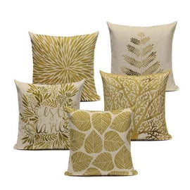 Tiptophomedecor Golden Leaves Pillow Covers