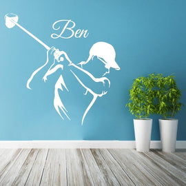 Golf Player Custom Name Sticker-Tiptophomedecor-Interior-Design-Home-Decor