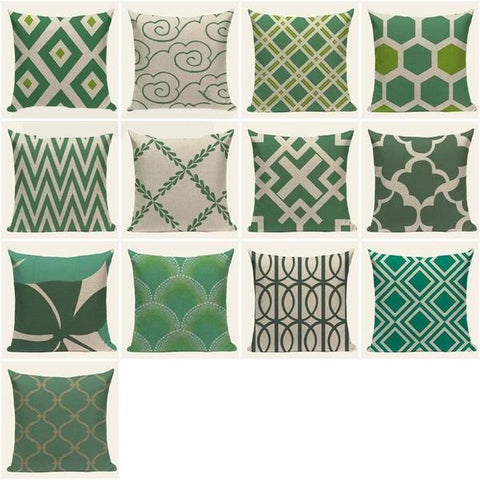Green Fantasy Cushion Covers