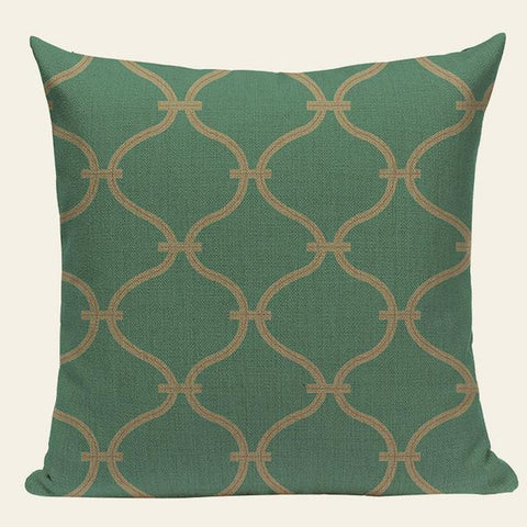 Green Abstract Fantasy Modern Throw Pillows Cases-Tiptophomedecor-Interior-Design-Home-Decor