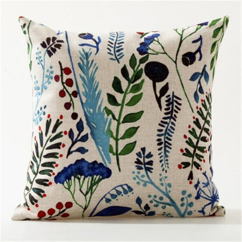 Green Leaves Banana Plant Botanical Cushion Covers-Tiptophomedecor