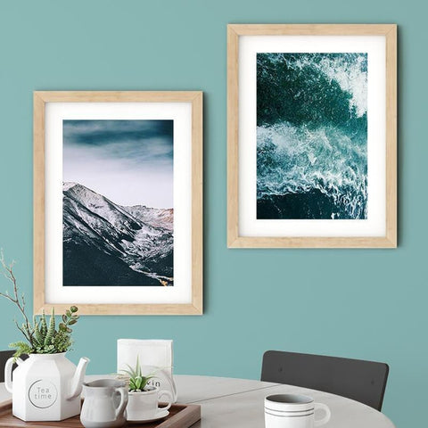 Green Sea Nature Plants Mountains Scenery Canvas Art Prints-TipTopHomeDecor