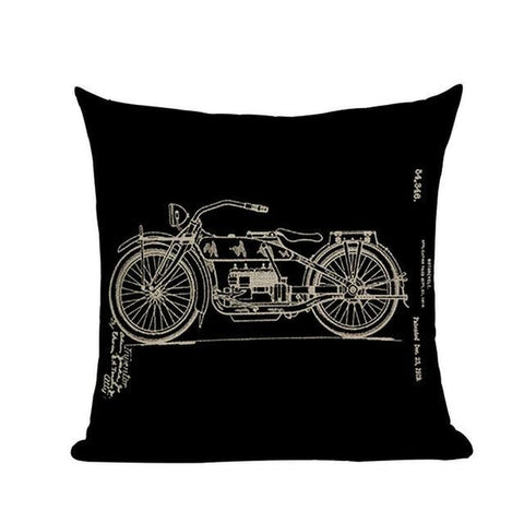 Hand Drawn Paintings Retro Black Vintage Cushion Covers-Tiptophomedecor-Interior-Design-Home-Decor