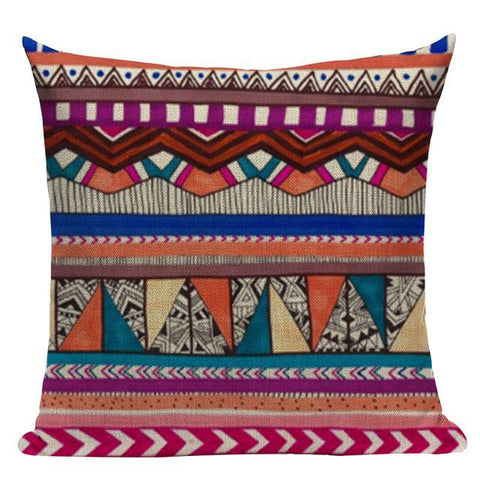Bohemian Colorful Pattern Lines Cushion Covers-Tiptophomedecor-Interior-Design-Home-Decor