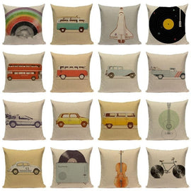 Hippie Surf LP's Van Car Cushion Covers-TipTopHomeDecor
