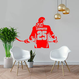 Ice Hockey Girls Women Personalized Name Number Wall Sticker-Tiptophomedecor-Interior-Design-Home-Decor