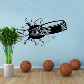 Ice Hockey Through Wall Decal-Tiptophomedecor-Interior-Design-Home-Decor