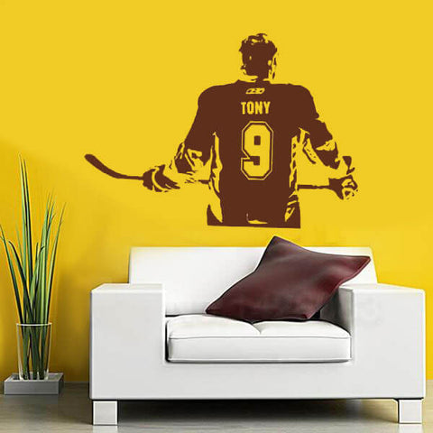 Ice Hockey Name Number Decal-TipTopHomeDecor
