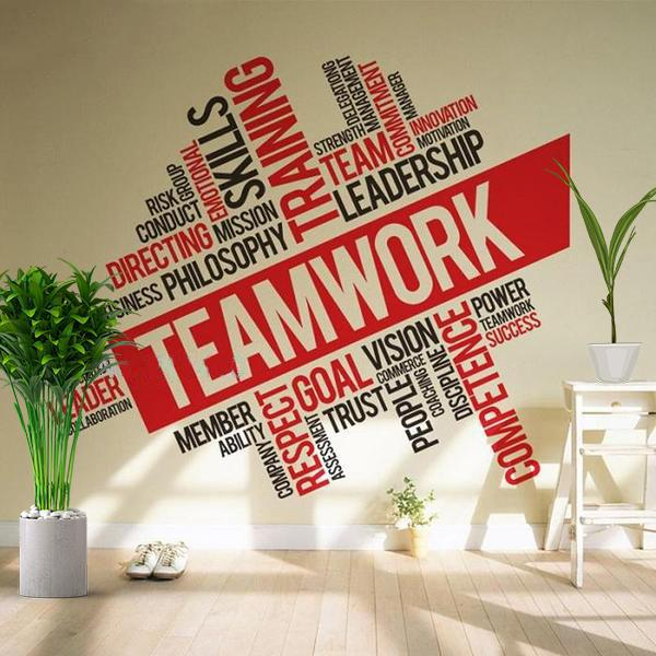 Office Teamwork Wall Decal