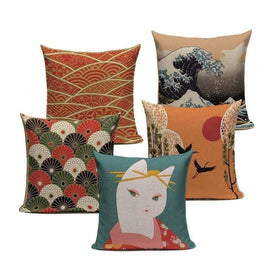 Tiptophomedecor Japanese Print Cushion Covers
