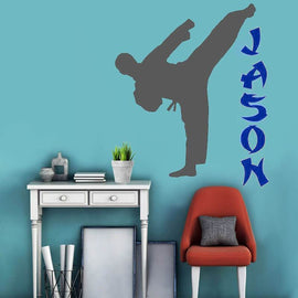 Karate Custom Name Martial Arts Decal Wall Sticker-Tiptophomedecor-Interior-Design-Home-Decor