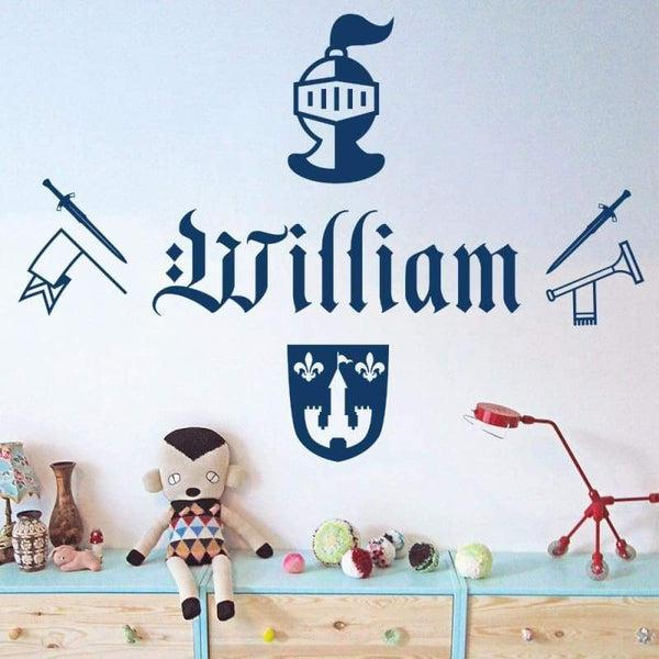 Tiptophomedecor Knight Sword Name Decal