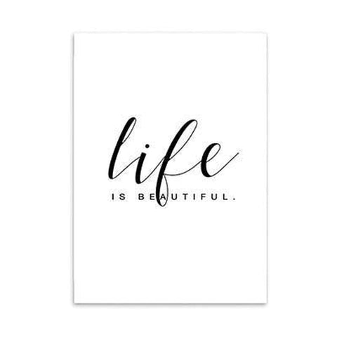 Life is Beautiful Travel Nordic Scenery Canvas Art Prints-Tiptophomedecor-Interior-Design-Home-Decor
