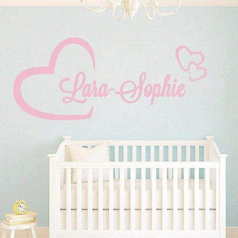 Tiptophomedecor Love Heart Name Decal