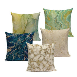 Marble Watercolor Ink Pouring Art Cushion Covers-TipTopHomeDecor