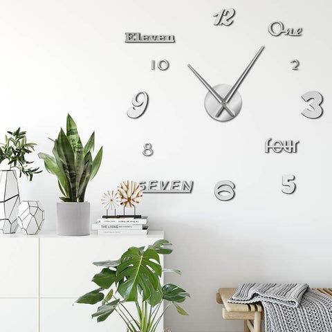 Mixed Style 3D Wall Clock Decal-Tiptophomedecor-Interior-Design-Home-Decor