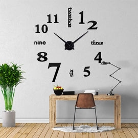 Mixed Word Number 3D Wall Clock Decal-TipTopHomeDecor