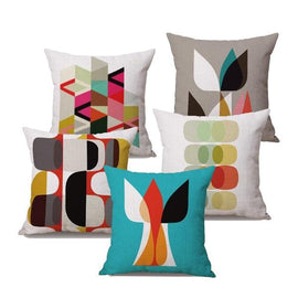 Modern Abstract Colorful Art Impressions Throw Pillow Cases-Tiptophomedecor