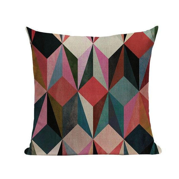 Modern Abstract Fuchsia Grey Symmetrical Figures Cushion Covers-Tiptophomedecor-Interior-Design-Home-Decor