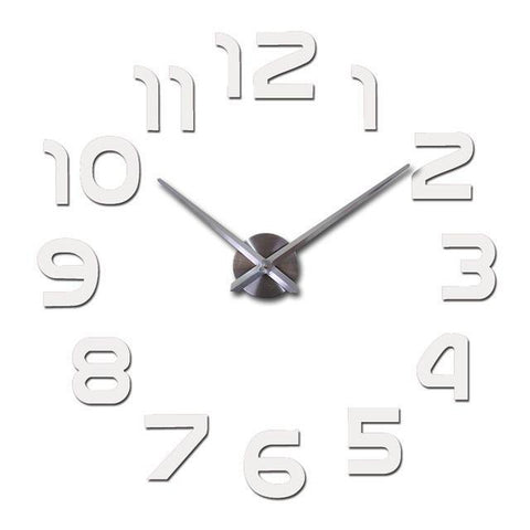 Modern Bold 3D Wall Clock Decal-TipTopHomeDecor