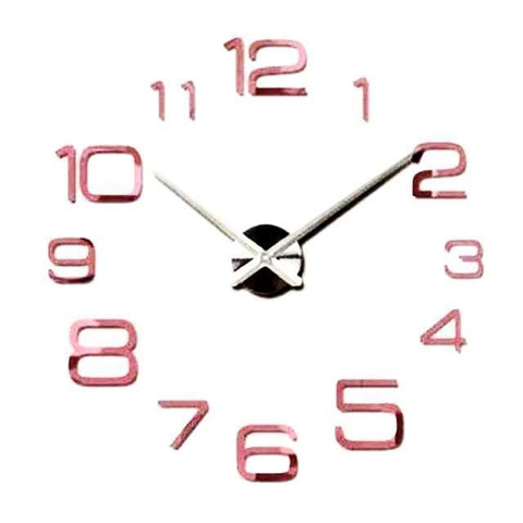 Modern Designers 3D Big Wall Clock Decal-TipTopHomeDecor