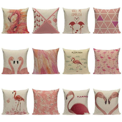 Tiptophomedecor Modern Pink Flamingo Cushion Covers