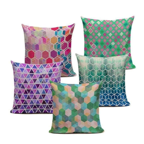 Mosaic Cushion Covers-TipTopHomeDecor