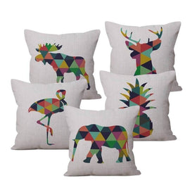 Multi Color Animal Pillow Cases