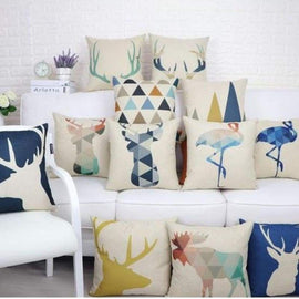 Nordic Animal Love Cushion Covers-TipTopHomeDecor