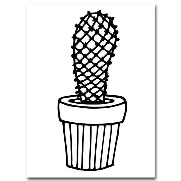 Nordic Cactus Kids Room Nursery Wall Art Decoration-Tiptophomedecor-Interior-Design-Home-Decor