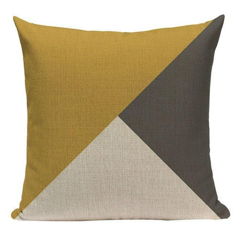 Nordic Mosterd Yellow Gold Grey Black Throw Pillow Cases-Tiptophomedecor-Interior-Design-Home-Decor