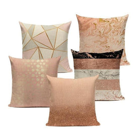 Nordic Soft Pink Blush Marble Cushion Covers-TipTopHomeDecor