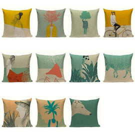 Nordic Style Tree Plant People Cushion Covers-TipTopHomeDecor