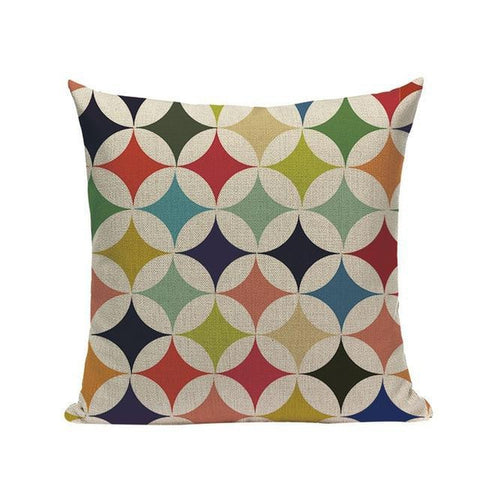 Nordic Vintage Colorful Abstract Modern Art Cushion Covers-Tiptophomedecor-Interior-Design-Home-Decor