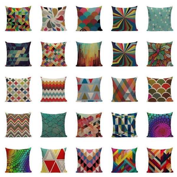 Nordic Vintage Colorful Abstract Modern Art Sofa Cushion Covers Tiptophomedecor